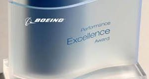 Gold Boeing Performance Excellence Award