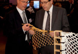 AmSafe Bridport £2.6M Tarian QuickShield Contract - Image of Peter Luff MinDES with Tarian QuickShield