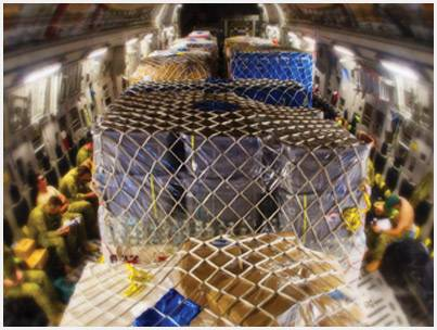 Cargo Aircraft Military Pallet Nets Dyneema Amsafe